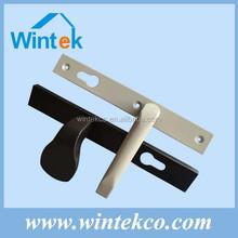 White powder coated aluminum lever door handle