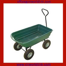 High Quanlity New Design Garden Mobile 4 Wheels Plastic dump cart