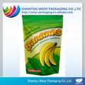 Encargo de plástico termosellado de plástico papel de aluminio plátano chips packaging