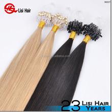 premium quality italian glue double drawn cheap remy micro line hair extension
