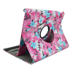 Hot selling PC+PU rotating wallet leather case for ipad mini case with stand
