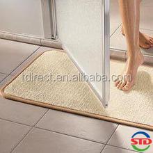 Microfiber Rectangular Beige Bath Mat