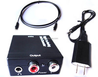 Digital to Analog Audio Converter Adapter for L/R RCA Audio with US PLUG