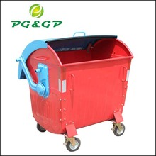 Solid recyclable waste bin hot dip galvanized