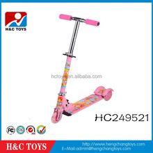 Three wheel skate scooter with lights for kids toy HC249521