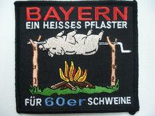 Colorido artesanía bordado insignias cerdo parches