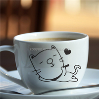 ZOOYOO multi kinds cup decal creative things for decoration high quality vinyl wall stickers (352)