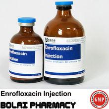 Medicamentos fármacos enrofloxacino 5% de inyección