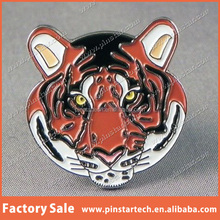 Alibaba china supplier wholesale custom high quality cheap price new products decor animal tiger novelty lapel pin