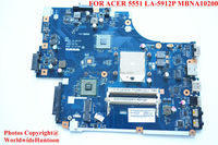 Original laptop motherboard for ACER 5551 MBNA10200 motherboard LA-5912P AMD&integrated&DDR3 fully test and free shipping