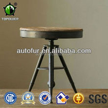 Antique industrial round table and chair for coffee shop /coffee table tennis