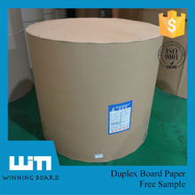 Recycled Mixed Pulp 350 gsm Paper Duplex Board Wrapping Paper Roll