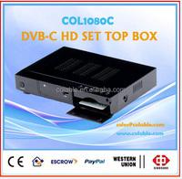 COL1080C DVB-C HD Set top box,mpeg-2/ mpeg-4 1080p tv box with USB