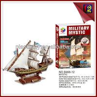 Easy assemble puzzle 3d paper ship model (129PCS)