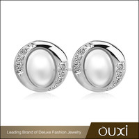 OUXI new products latest design of artificial jhumka pearl earrings