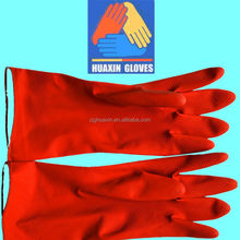 extra long household rubber cleaning gloves with waterproof sleeve