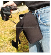 hot sell simple but fashion custom logo waterproof dustproofn black digital camera bag
