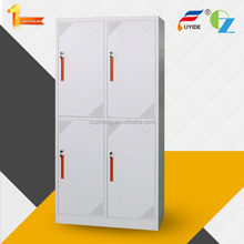 China furniture high quality cheap KD 4 door compartment steel wardrobe locker, bedroom metal clothes locker cabinet for sale