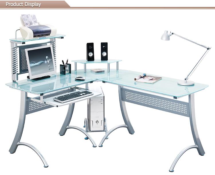 hot vendre mobilier de bureau bureau d 39 ordinateur en verre avec des armoires tables en verre id. Black Bedroom Furniture Sets. Home Design Ideas