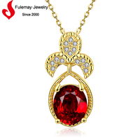 Nepal gold jewellery red bead necklace