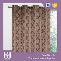Polyester Jacquard circle window curtain,custom window curtain, elegant curtain from china