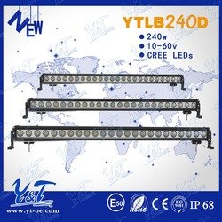 45inch ip68 High Power 240w LED Lights Bar Flood Spot COMBO WORK Light 4WD UTE OFF ROAD For Truck Boatngle row Off Road Led Bars