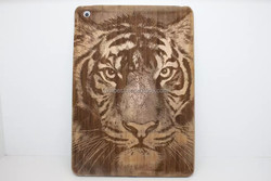 2015 New Products Tiger Carven Bamboo Wooden Case for ipad Air Carven Walnut Wood Case Accepted Paypal