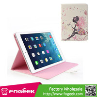Fast Shipping Butterfly Maiden Glittery Rhinestone Pattern Smart Leather Shell for iPad Air 5