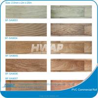 durable PVC commercial wooden grain plastic floor