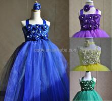 2015 Princess puffy design tutu crochet handmade girls party dresses evening cinderella frock latest dress designs