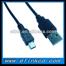 Mini USB cable connector charger and data transfer usb 5pin cable