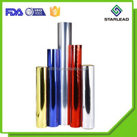 Vacuum aluminizing PET electronic film coated with the colors