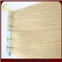 beautiful straight human hair extensions pu skin tape hair weft