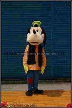 pluto cane mascotte costume da mouse e paperino