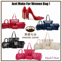 2015 Fashion style Bag and shoes set 6 for women in handbags shoes match bag Wholesale made in china online shopping