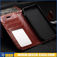 Hot sale top quality leather flip case for iphone 5 with card holder