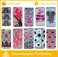 "2015 hot sale soft TPU painted relief cell phone back case protective cover skin for iphone 6 plus 5.5"" 10 patterns available"