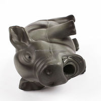 2014 sound black latex pig shaped pet toy for dog