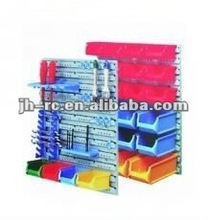 44pcs Plastic Wall Mounted Storage Bin Rack