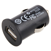 portable 5v 1a single port USB Powerful Car Charger black color multi charger
