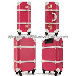 pu leather luggage, leather kids luggage , leather vintage luggage