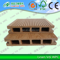 LSHD-03 135*25mm wpc decking prices/Eco-friendly Outdoor Waterproof Engineered WPC Floor