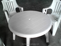 white plastic outdoor table and chair/plastic chair and round table/cheap white small plastic table