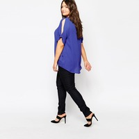 HAODUOYI Women Chiffon Blouses Splits on Shoulders Women Tops Short Sleeve T-shirts for Wholesale
