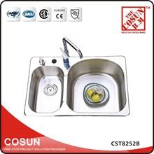 Antique Polished Best Double Bowl Kitchen Sink Brand CST8252B