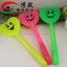 Party supply custom led smile face glow sticks