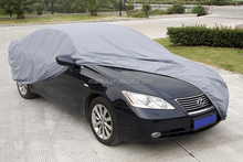 practical grey car cover with PVC and soft lining cotton,350G, 15401