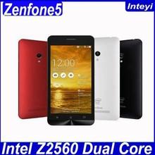 "Original ZenFone 5 ZenFone5 Dual Core Android 4.3 Cell Phones 5"" IPS Dual Sim 8MP Camera 8GB/16GB ROM WCDMA GPS"