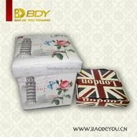 wood fabric leather folding indian storage ottoman pouf