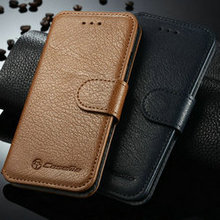 iCase 2015 CaseMe Hotsale Product 2014 for Genuine Flip Leather Case iPhone 6